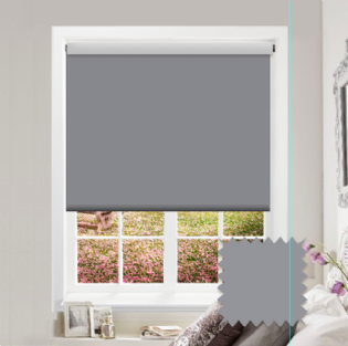 Grey Roller Blind - Bahamas Night Grey